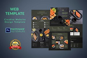 I will design photoshop web template , PSD website and website UI