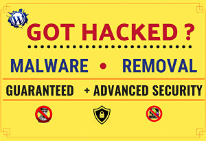 I will remove malware from hacked wordpress website, security, malware removal