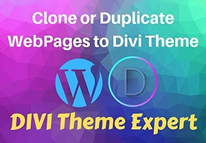I will clone or duplicate your wordpress website to divi theme