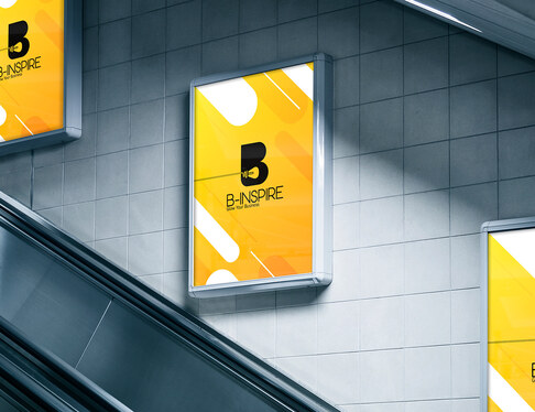 create a signage mockup with your logo or design