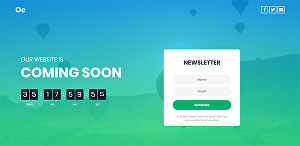 I will create responsive coming soon under construction or landing page