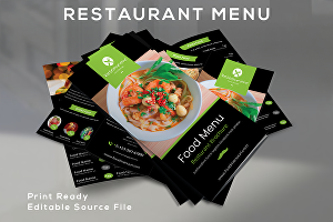 I will design food flyer or restaurant menu