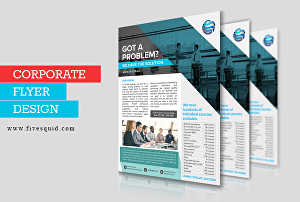 I will design business, corporate, company flyer