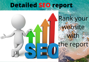 I will provide you with a full detailed SEO report to rank your site within 24 hours