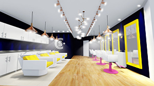 I will create an interior design for your beauty salon