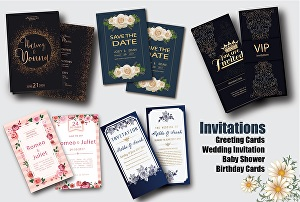 I will do any party, event, business invitation, postcard or voucher design