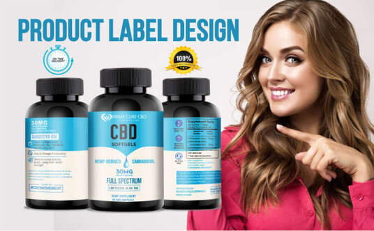do product label design with product label packaging