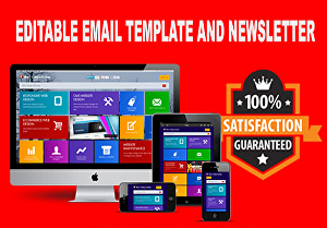 I will design a professional html email template or newsletter template