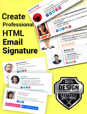I will do email signature HTML email signature or Clickable signature