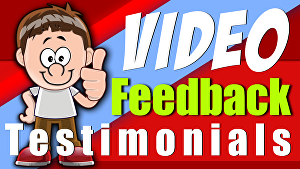I will add your feedback testimonials to one of our pre designed video templates