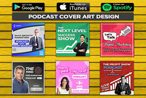 I will design Professional Podcast cover art