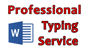 I will Do professional Typing Job
