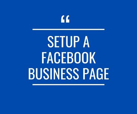 set up a Facebook business or fan page in 24h