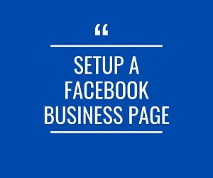 I will set up a Facebook business or fan page in 24h