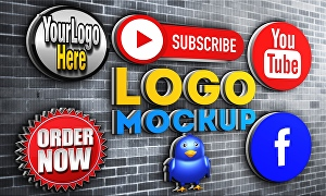 I will design wall 3d logo mockup or wall 3d text mockup for your brand