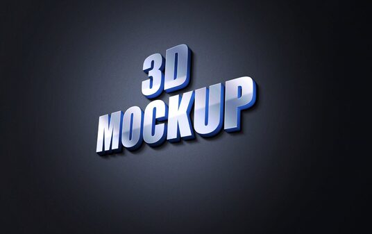design wall 3d logo mockup or wall 3d text mockup for your brand