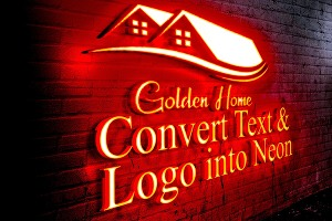 I will convert your text and logo into neon sign,neon logo and neon light effect