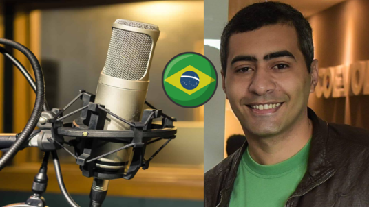 record a 500 words Brazilian Portuguese male voice over for your project