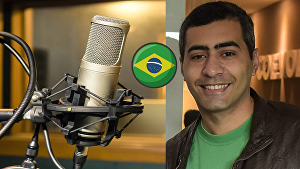 I will record a 500 words Brazilian Portuguese male voice over for your project