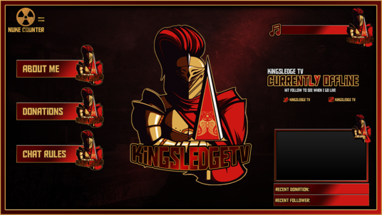 design a professional twitch overlay and logo