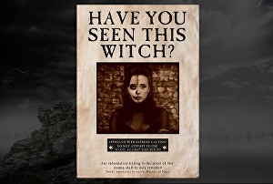 I will create an interactive Witch Wanted Poster