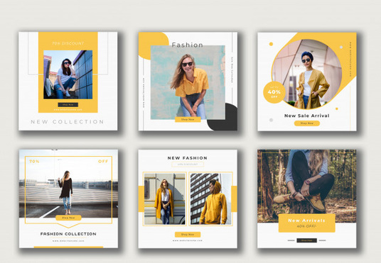 design Instagram post and story templates