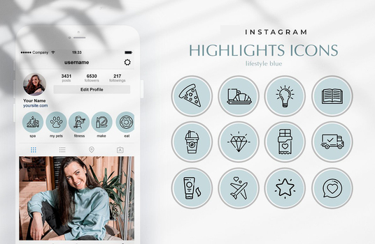 design professional Instagram story highlight icons