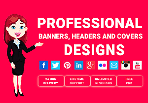 I will design a youtube banner, header, facebook, or twitter cover