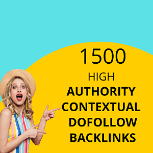 I will provide 1500 High Authority Contextual Dofollow Backlinks for SEO