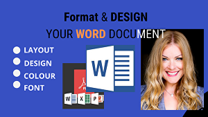 I will format and design your microsoft word document