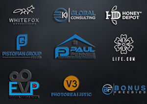 I will design a creative modern logo with free source file