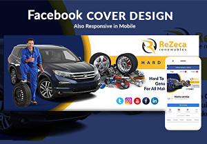 I will design Facebook cover ad or other social media banner