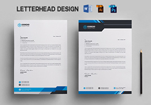 I will design professional letterhead in editable word format