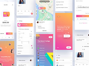 I will design creative mobile app ui ux for android and IOS