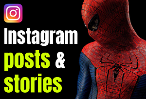 I will create and design instagram posts and stories