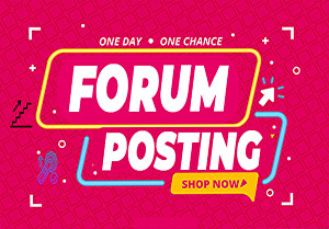 I will Do 25 High-Quality Forum Posting Backlinks