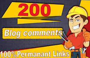 I will submit 200 blog comments SEO backlinks on high authority sites