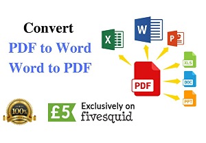I will convert pdf to word within 24 hour