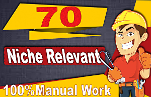 I will create 70 niche relevant blog comment high authority seo backlinks