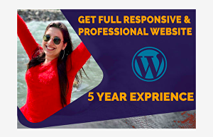 I will create professional and responsive wordpress website design