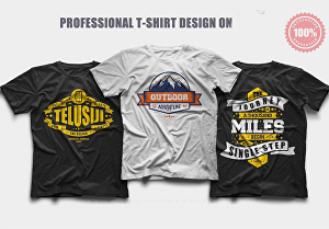 I will make custom and trendy t-shirt design