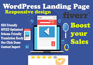 I will design and customize fast Responsive landing page through page builder