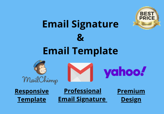design HTML or clickable  email signature for iphone, outlook, gmail and your brand