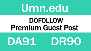 I will Write And Publish Guest Post On UMN.edu DA 91 blog