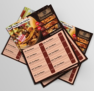 I will design restaurant menu