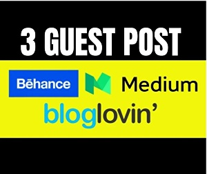 I will Write And Publish 3 Guest post on Behance, Medium,BlogLovin
