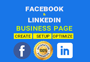 I will create Facebook or Linkedin Business Page