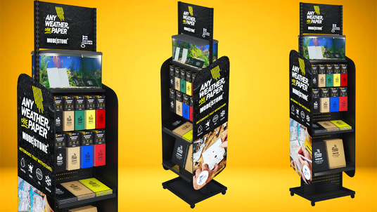 design a unique product display for visual merchandising