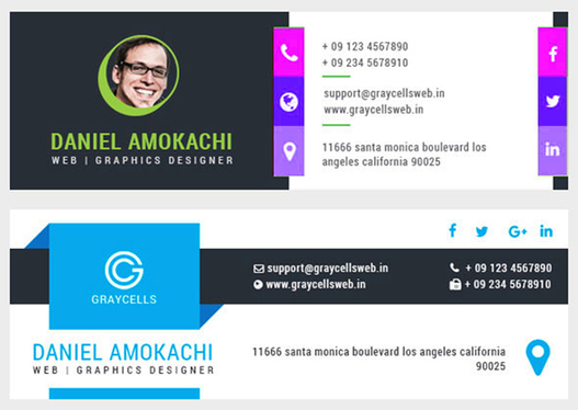 design clickable email signature for Gmail, Outlook, Yahoo and others email client