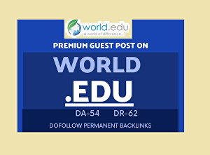 I will Write and Publish A Guest Post world.edu DA 55 Backlinks